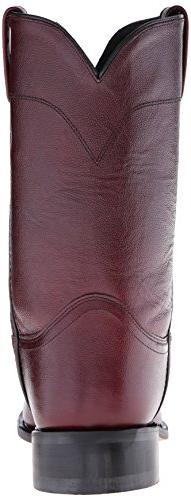 Old West Men's Leather Roper Cowboy Boot Cherry EE