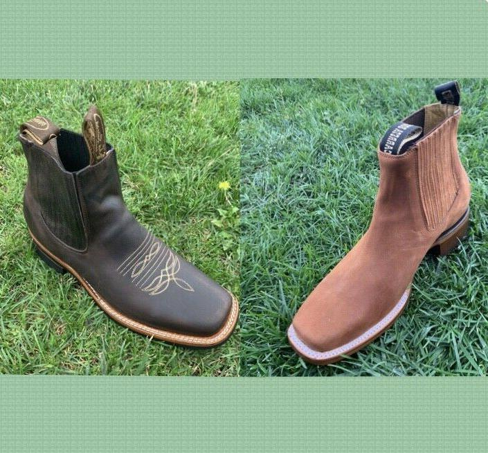 men s leather western style cowboy rodeo