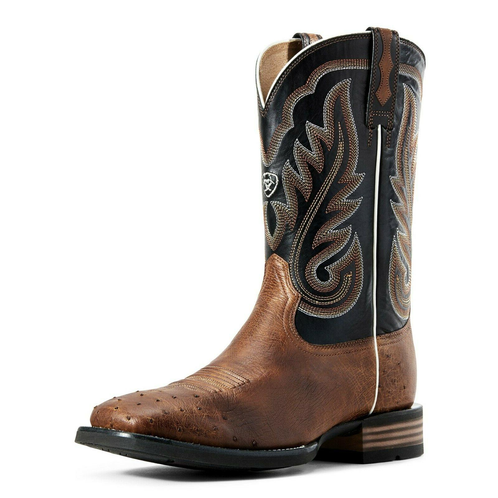 men s ostrich and black promoter western