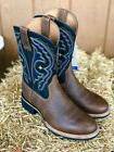 Ariat Men's Quantum Black & Earth Brown Round Toe Western Bo
