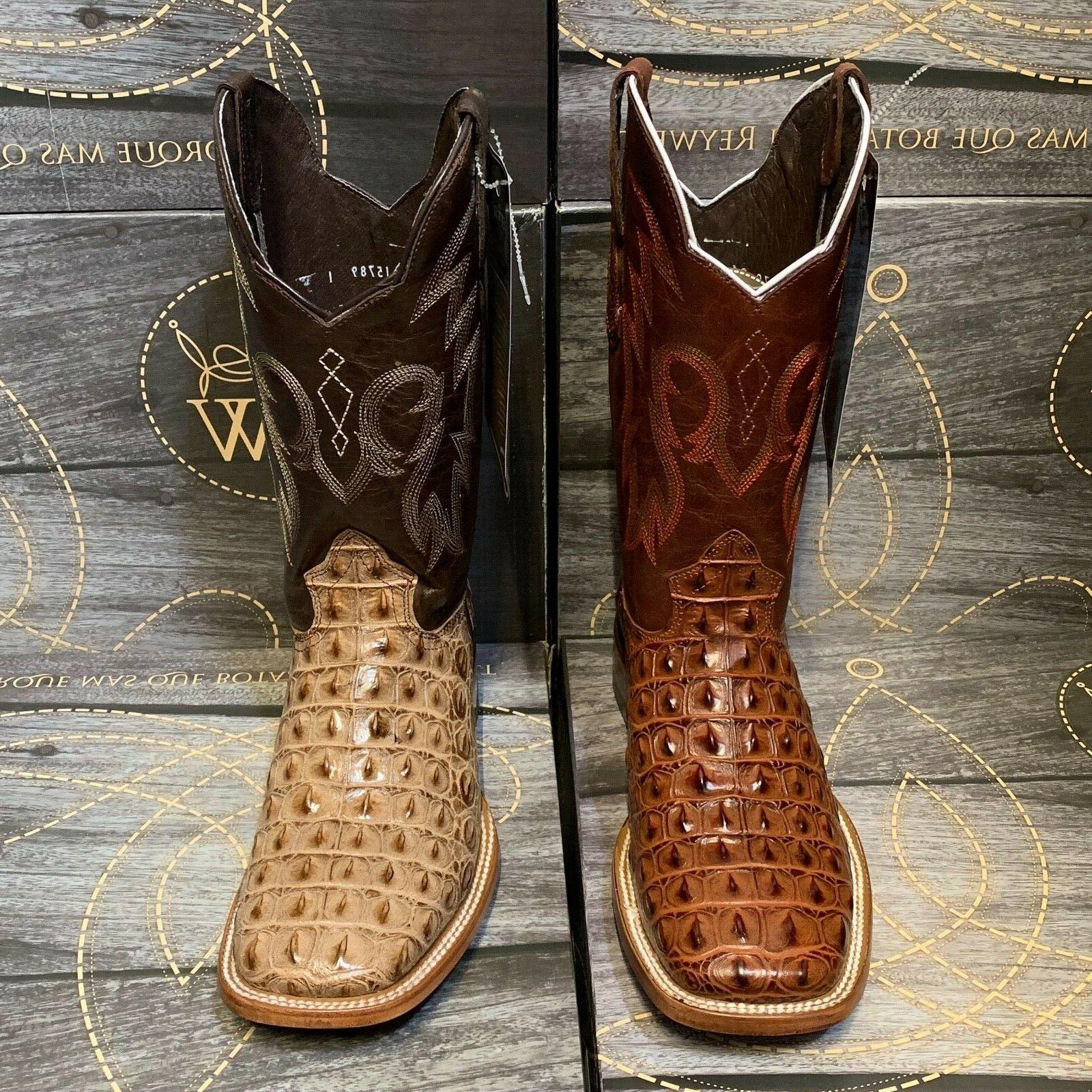 MEN'S RODEO COWBOY BACK GENUINE WESTERN SQUARE BOTAS