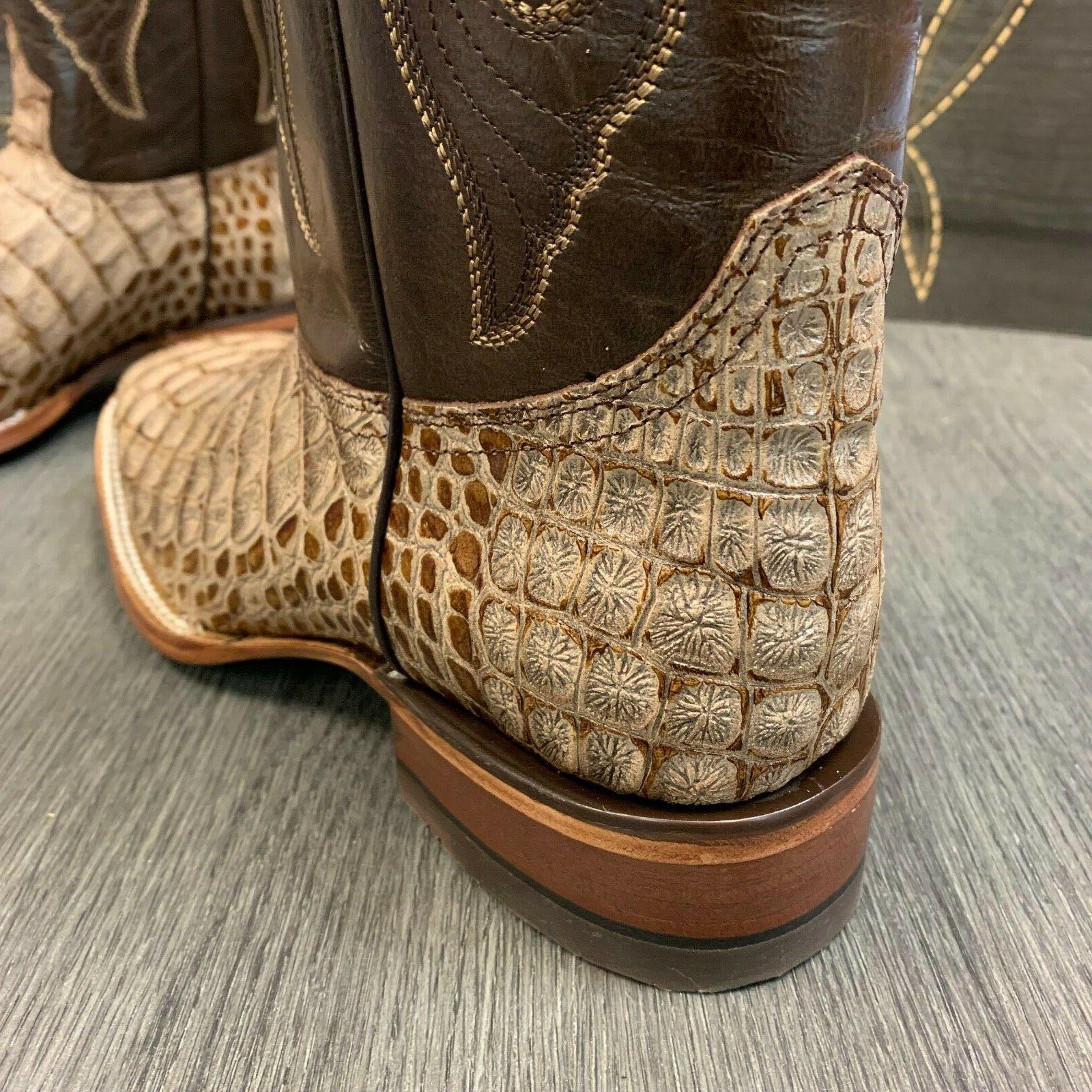 MEN'S RODEO BOOTS COCO SQUARE BOOTS TAN COLOR