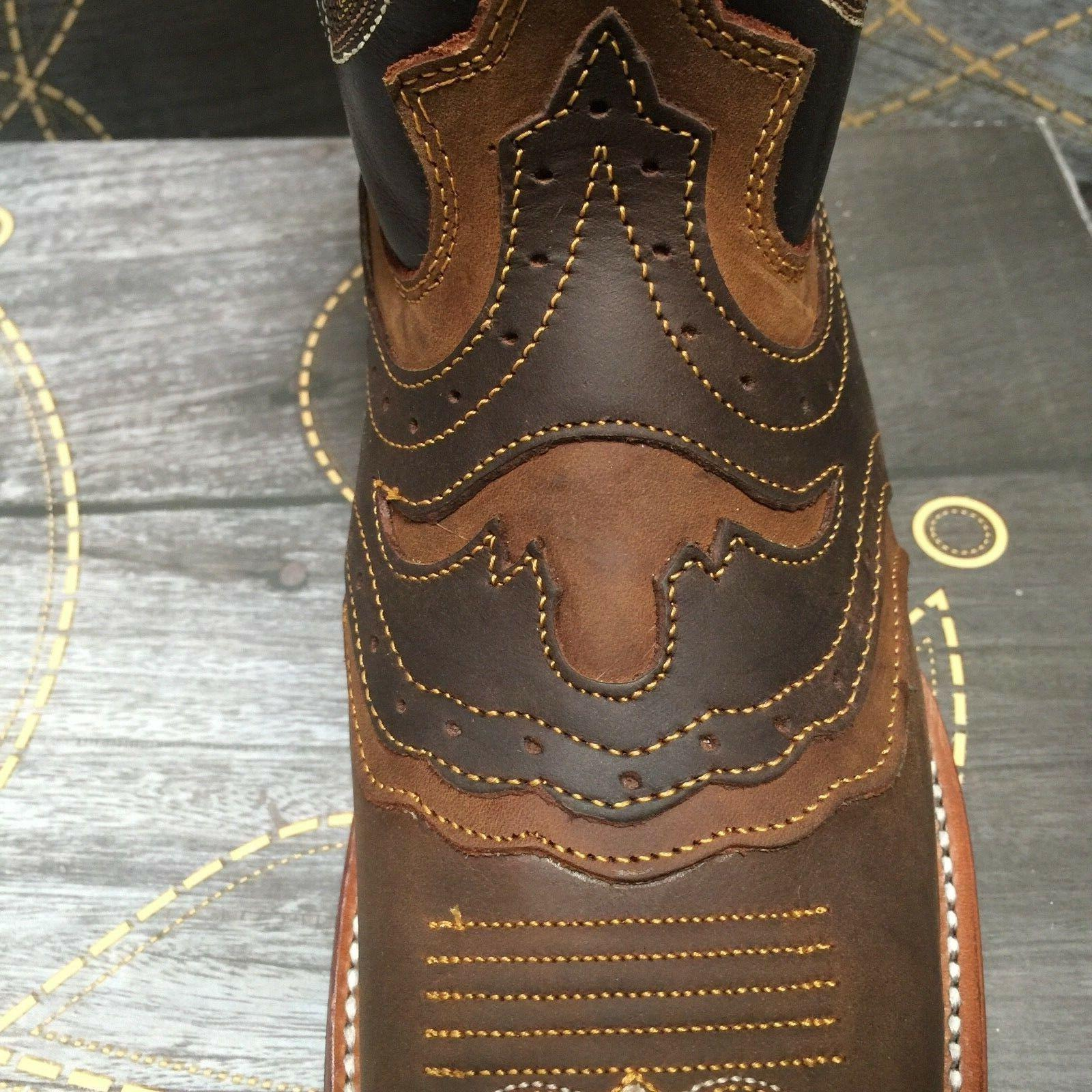 MEN'S RODEO GENUINE LEATHER TOE BOOTS BROWN