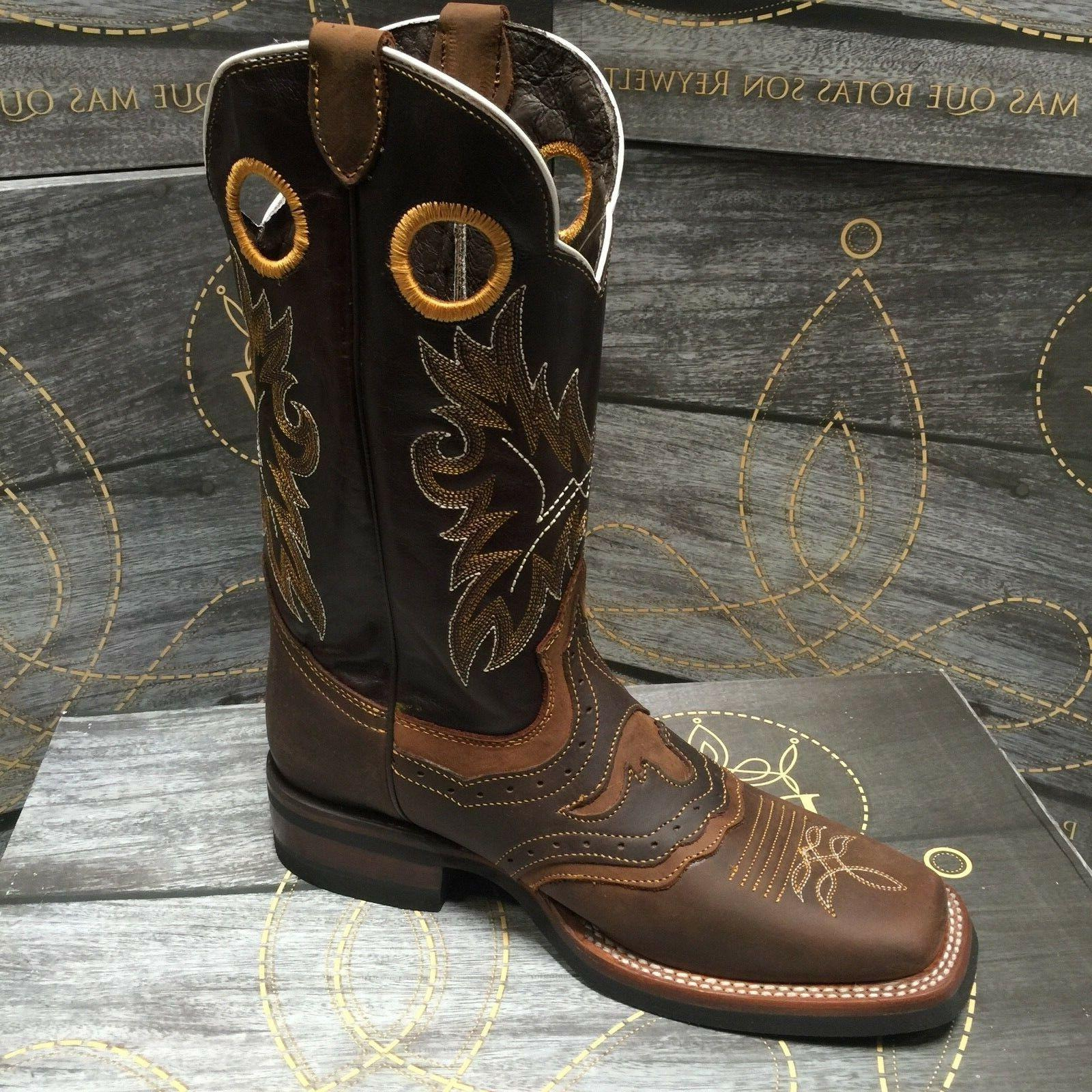 MEN'S RODEO GENUINE TOE BROWN BOTAS