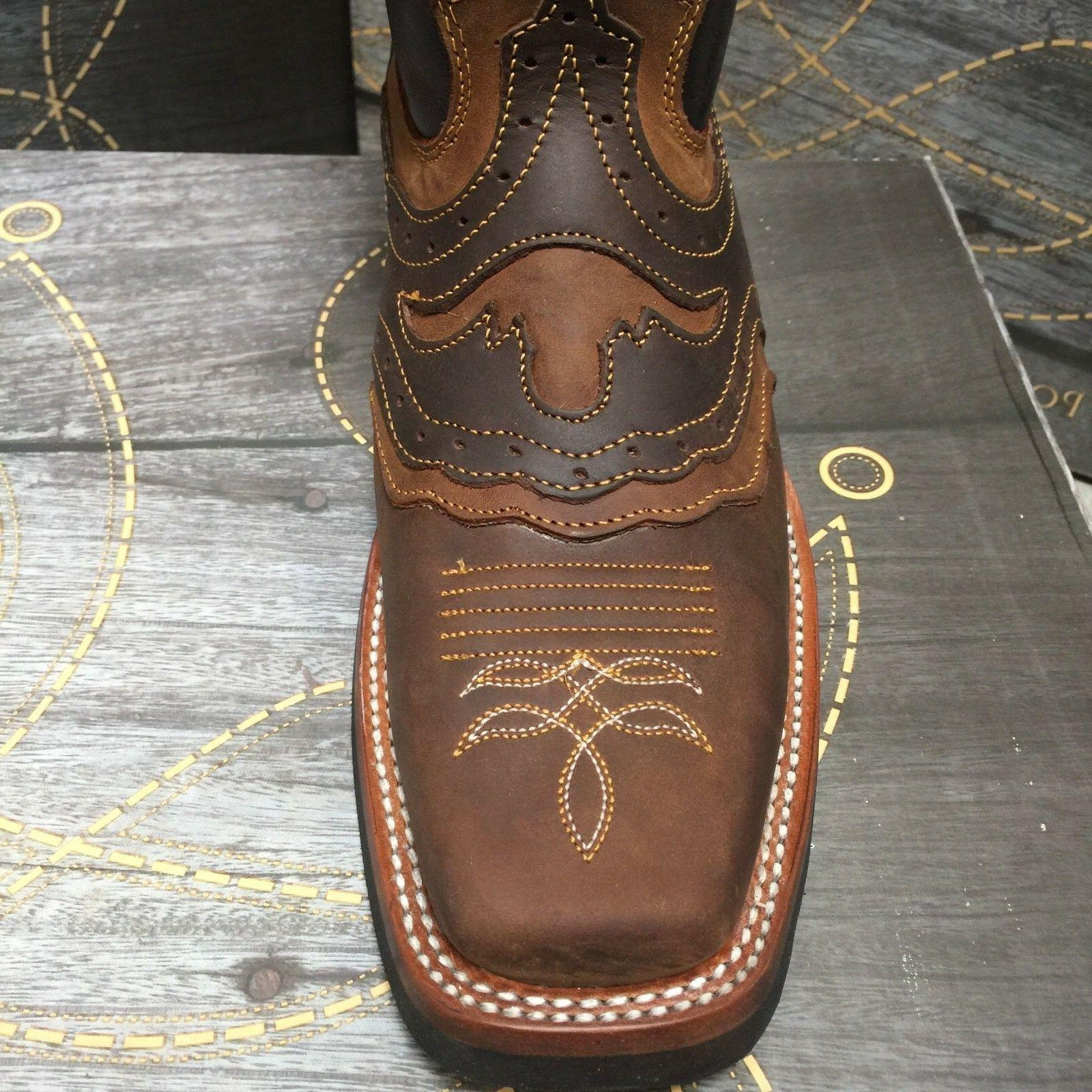 MEN'S RODEO BOOTS GENUINE LEATHER TOE