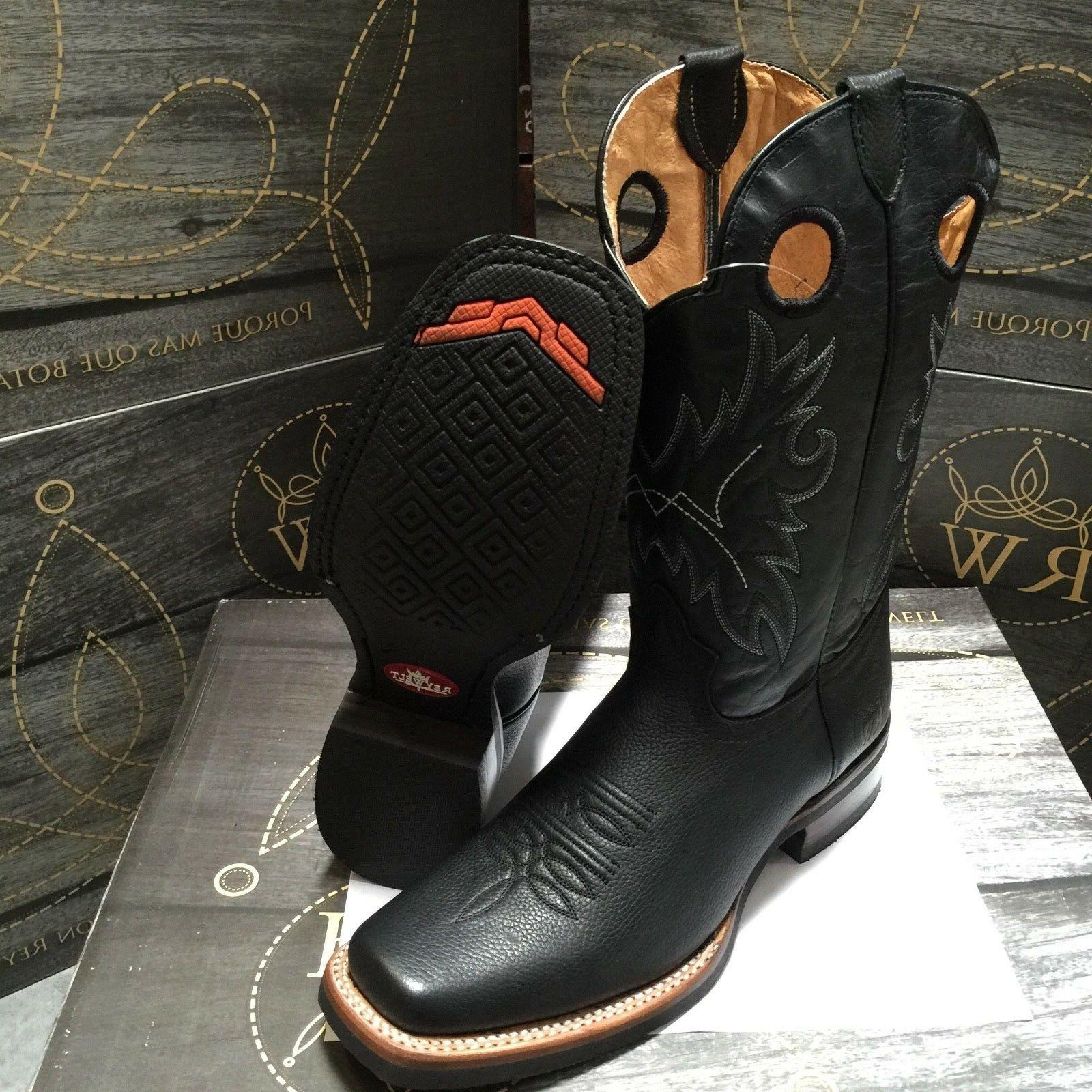 MEN'S RODEO BOOTS GENUINE FULL SQUARE TOE BOOTS #250-H