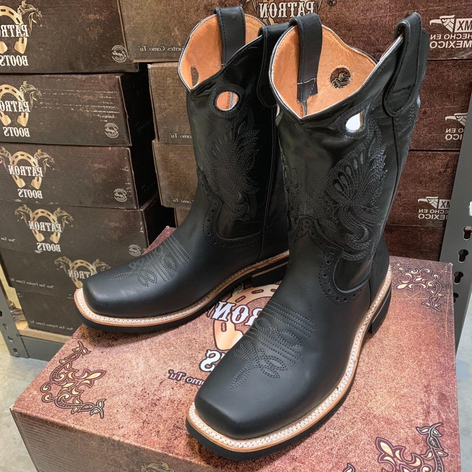 GENUINE LEATHER TOE BOOTS