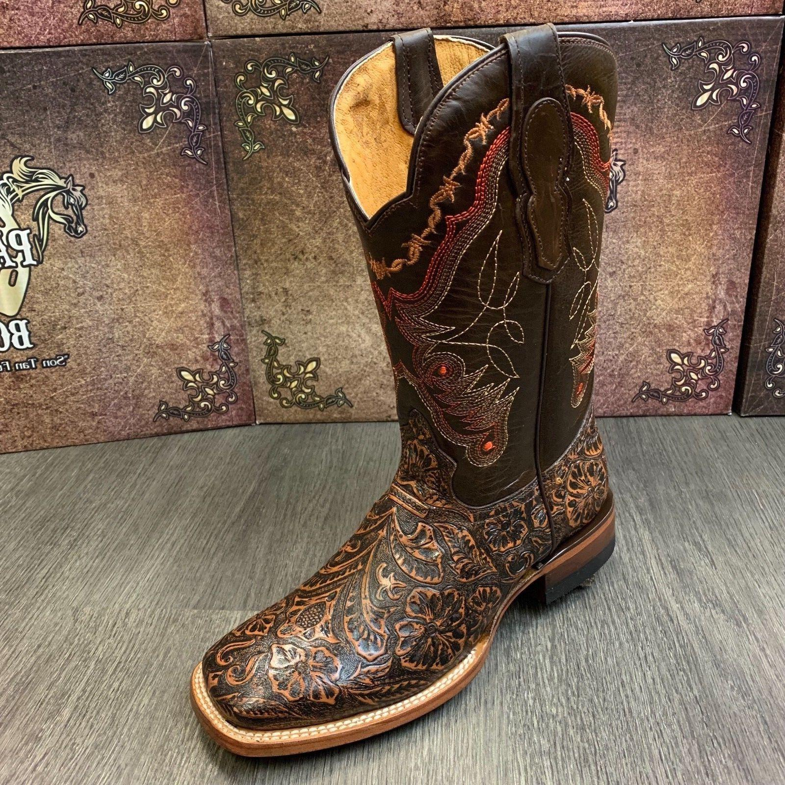 MEN'S RODEO BOOTS HAND WESTERN SQUARE