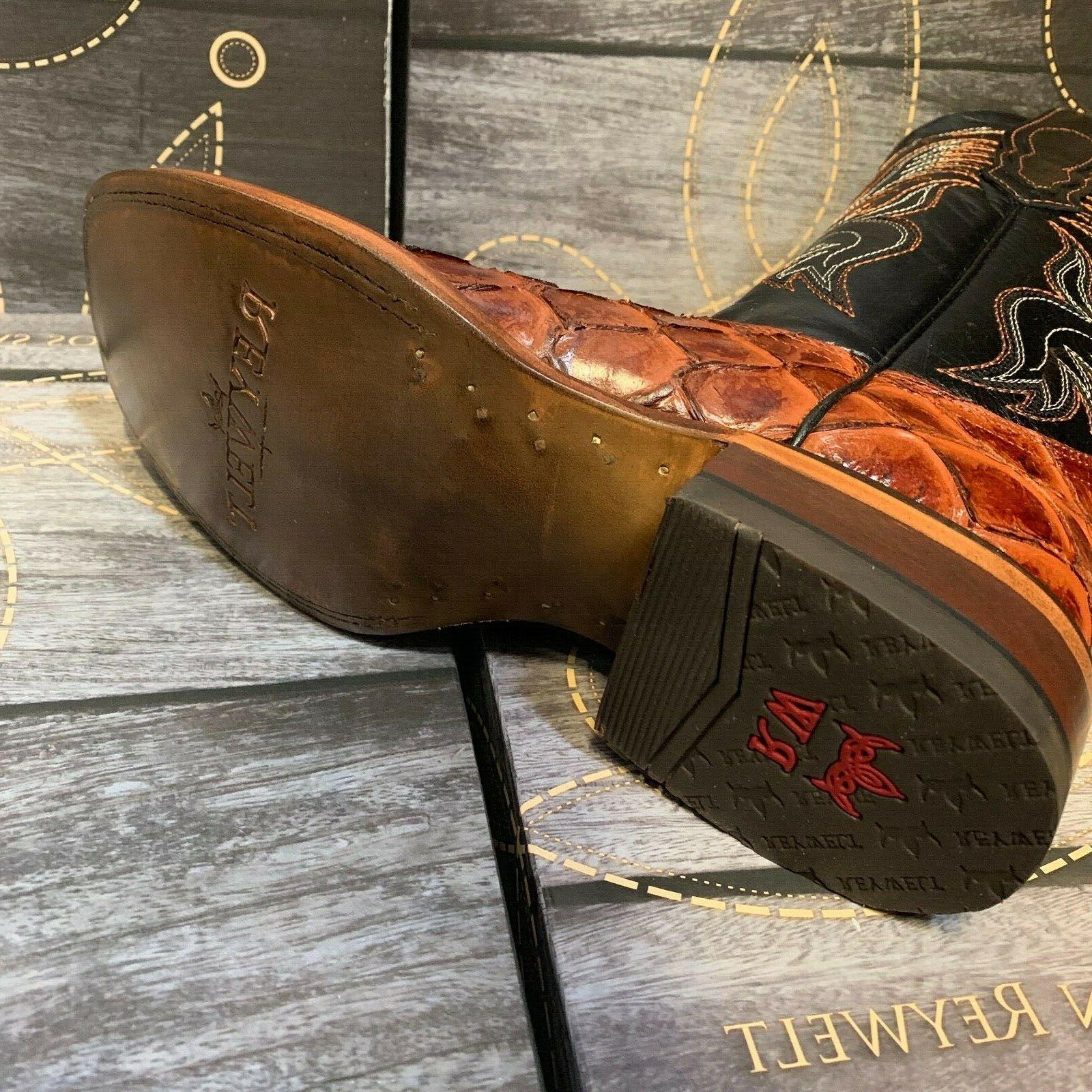 MEN'S COWBOY PIRARUCU PRINT SQUARE TOE