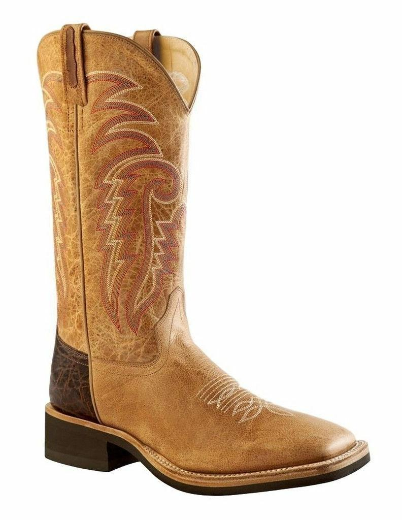 MEN'S OLD WEST SQUARE TOE CREPE SOLE WESTERN BOOTS BSM1859