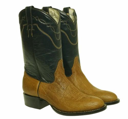 Cowtown Boots Men's Two Tone Western Cowboy Round Toe Boots