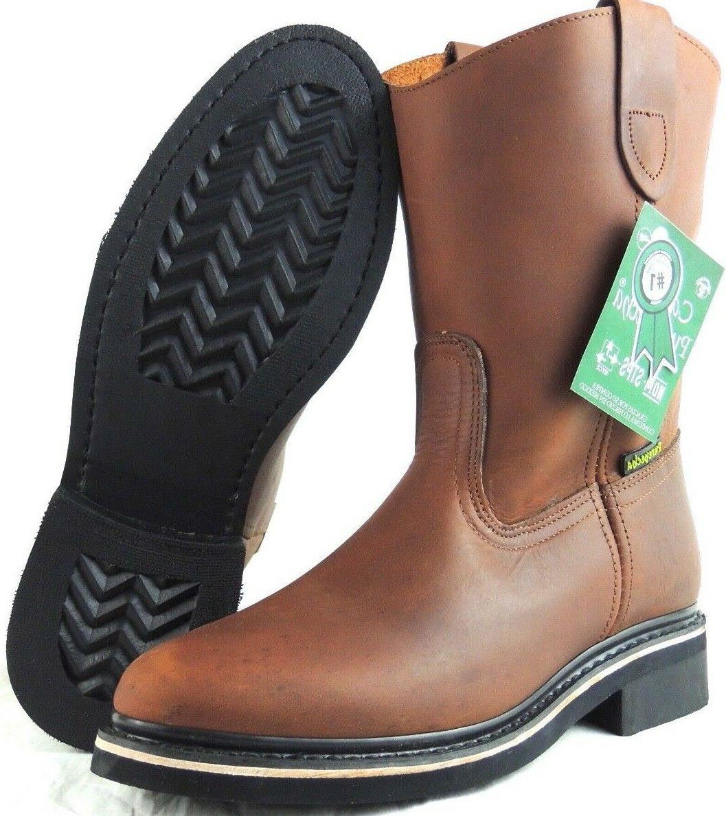 men s work boots genuine leather brown