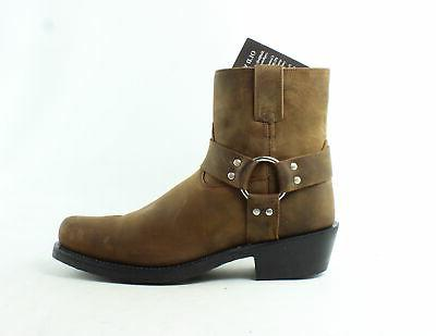 mens brown cowboy western boots size 10