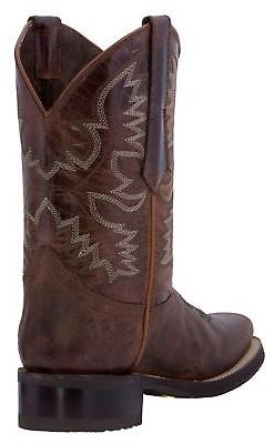 Mens Cognac Style Western Square Toe Leather
