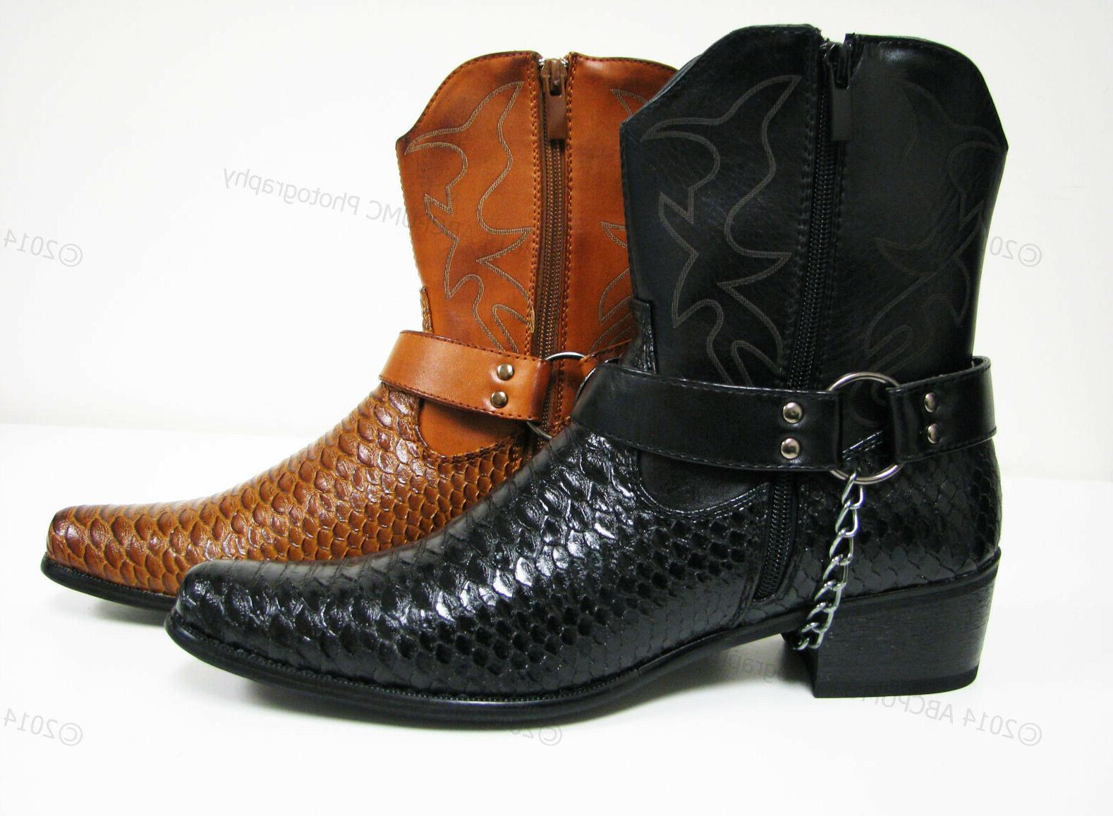 Brand New Boots Print Zippper Buckle Shoe