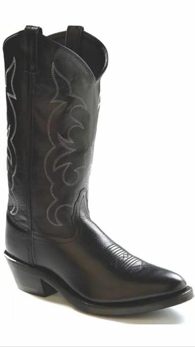 mens leather black western boots by tbm3010