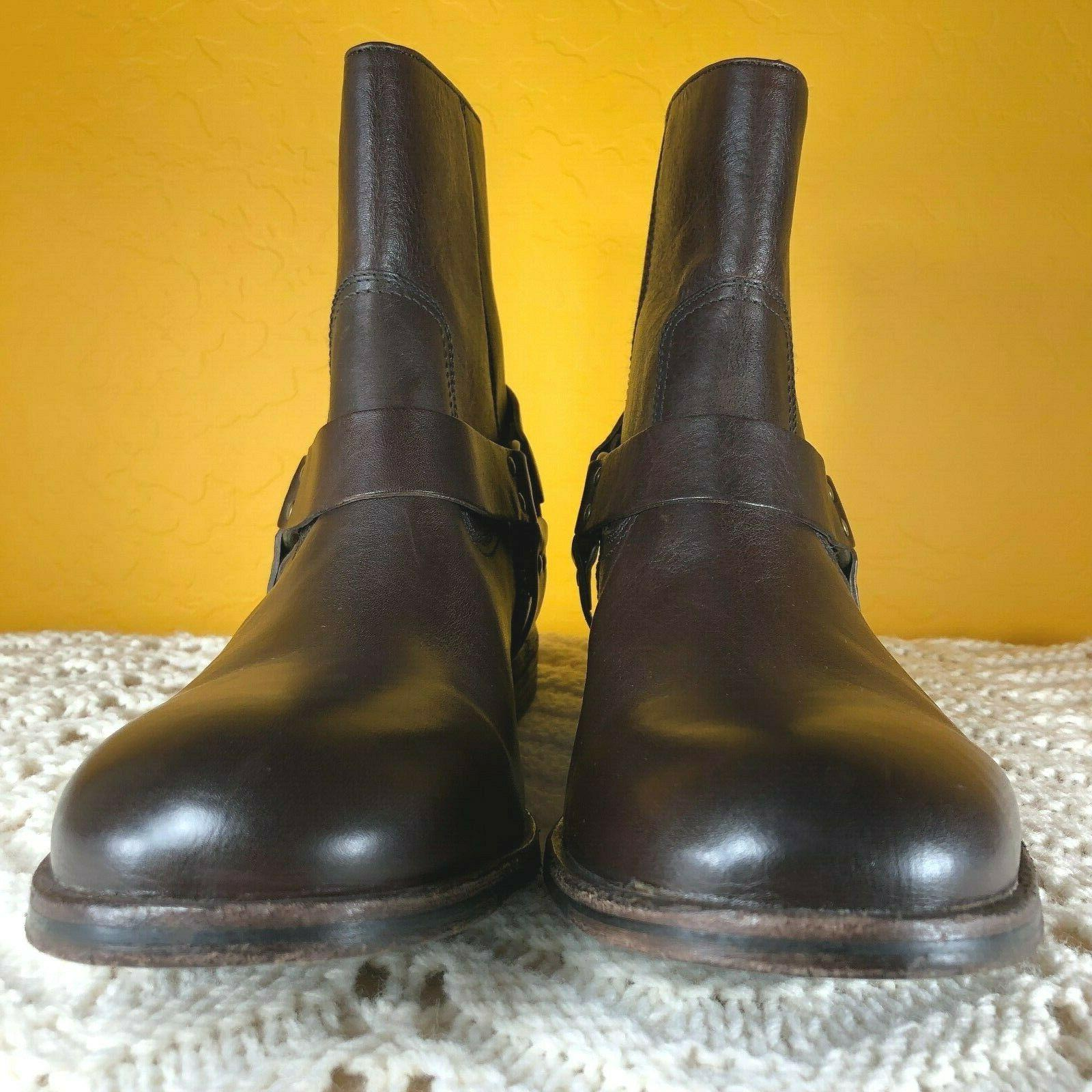 Frye Ankle Boots M Leather Western Zip