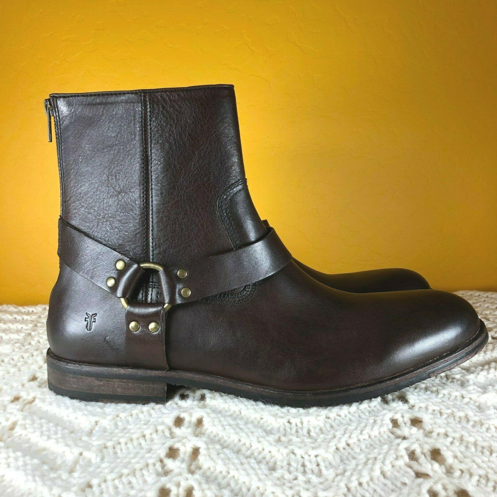 Frye Ankle M Brown Leather Zip
