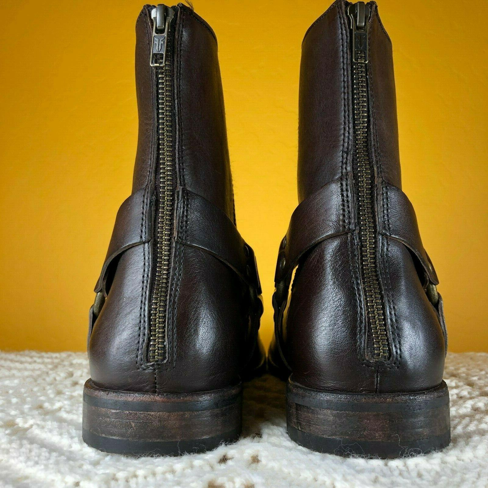 Frye Ankle Sz M Brown Zip 3482292