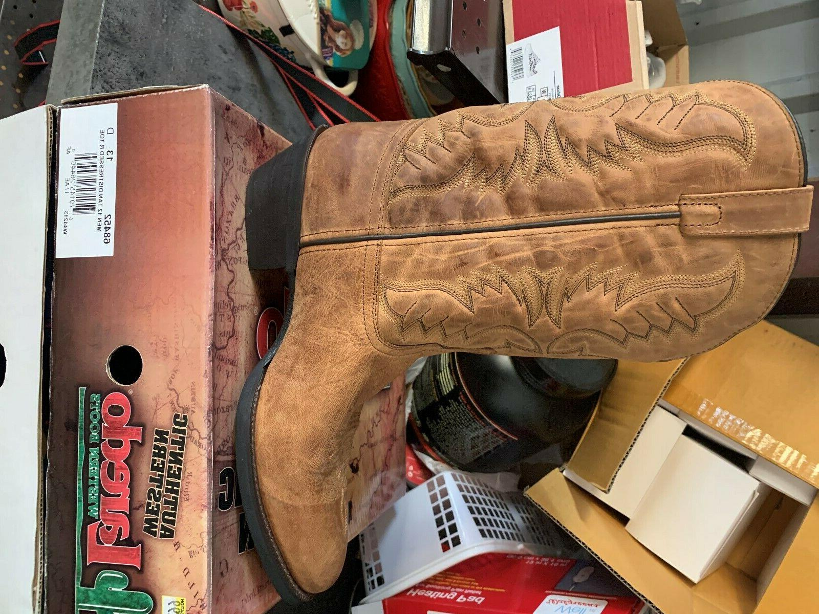 mens western boots size 13 d