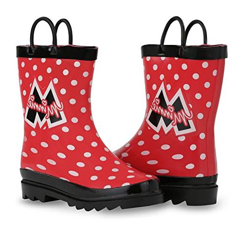 Disney Minnie Mouse Girl's Red Boots