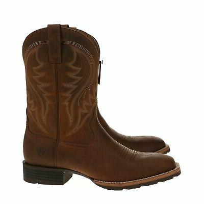 NEW 10023175 Western Boots Distressed Brown with - 12