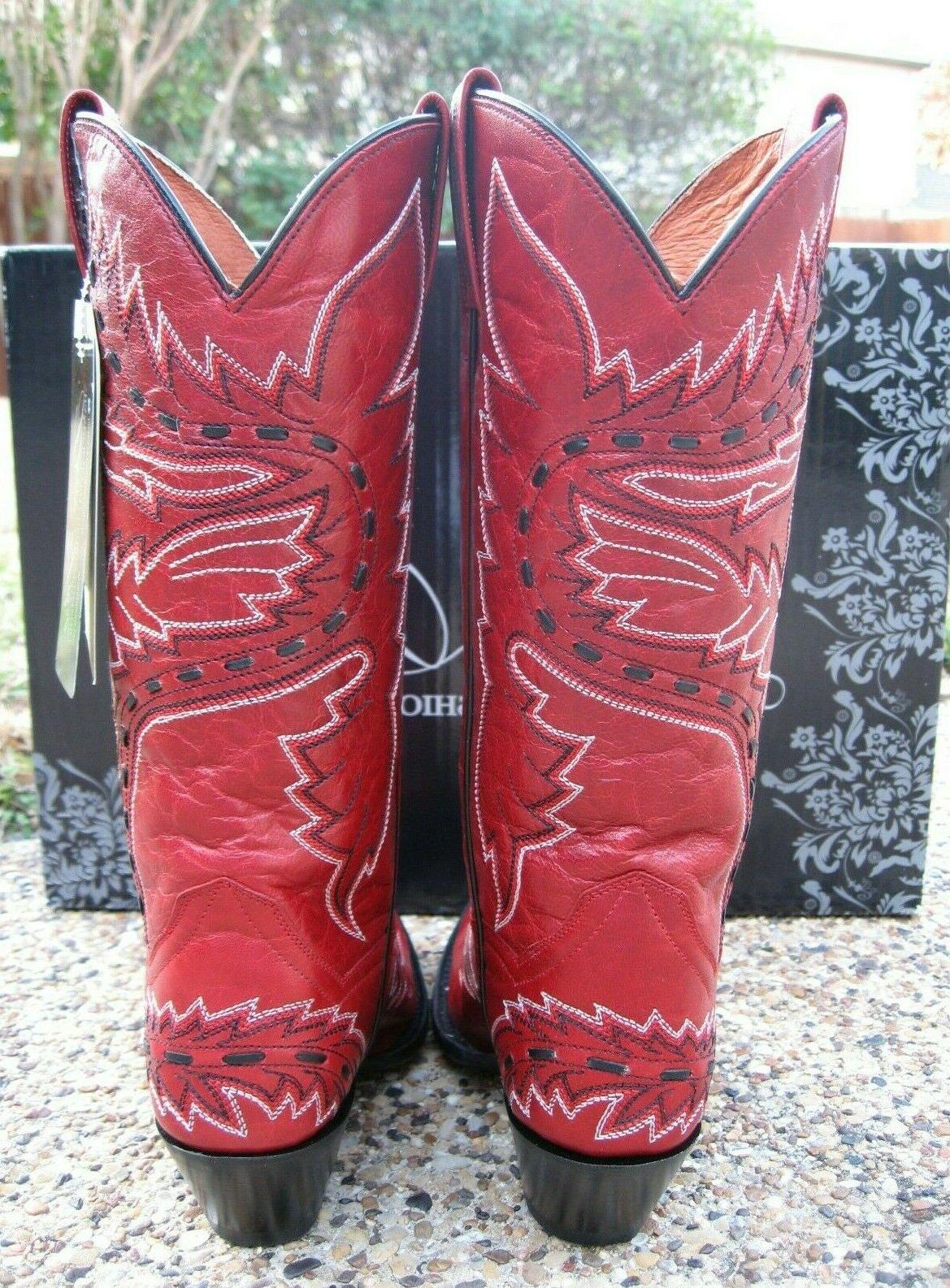 NEW Dan Post Sidewinder Red All Western Boots DP3455