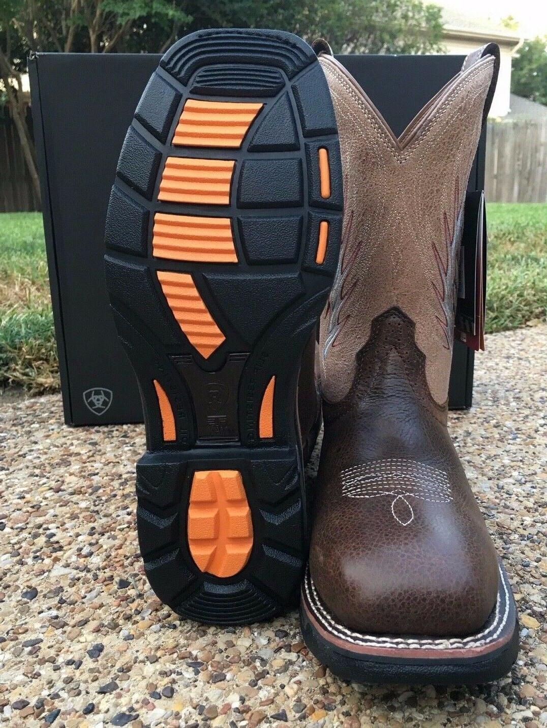 NEW Men ARIAT Composite Western Boots