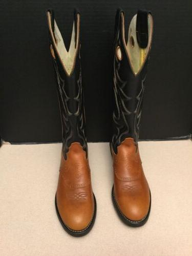 New! Mens Golden Leather Boots. Size