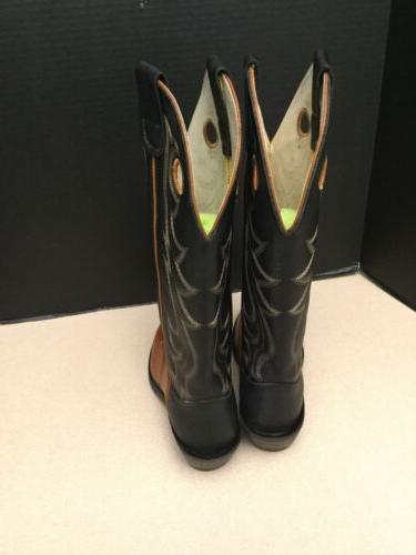New! Golden Leather Boots. Size 7D.