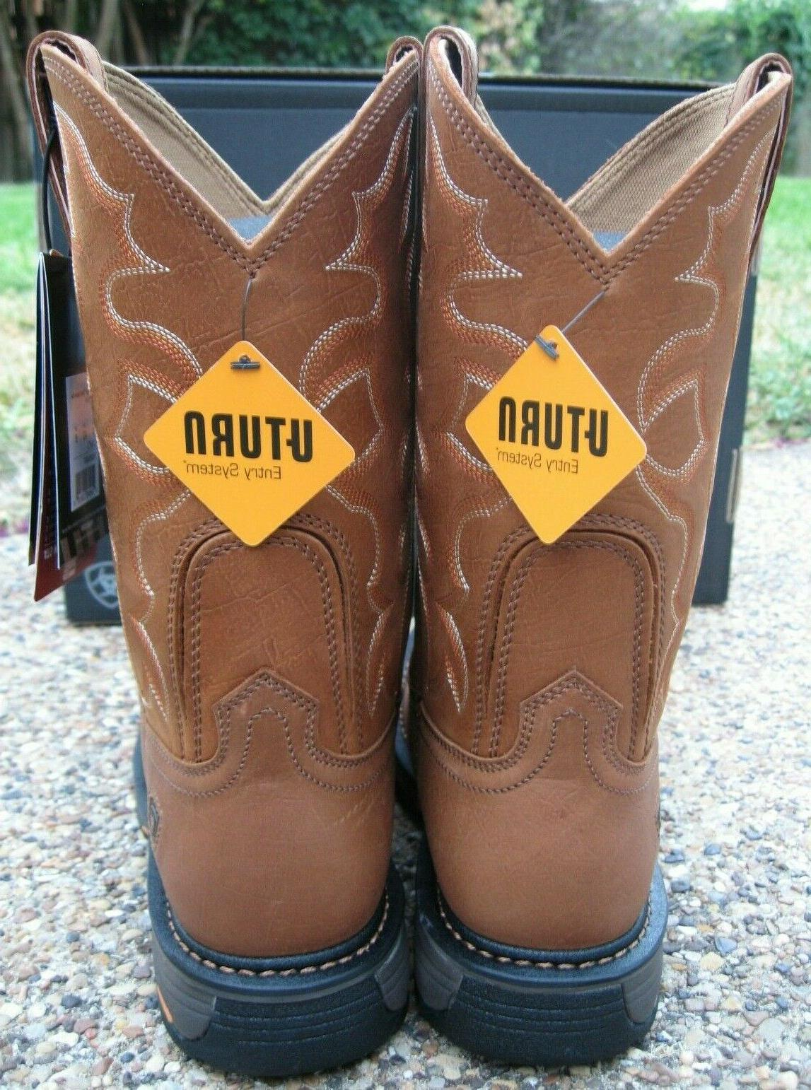 NEW Mens ARIAT Tan Leather Western