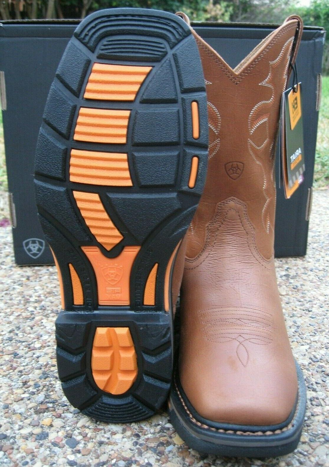 NEW ARIAT Tan Leather Western Boots 10005887