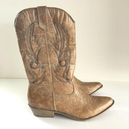 New Women's Gaucho Cow Boy Cow 8.5