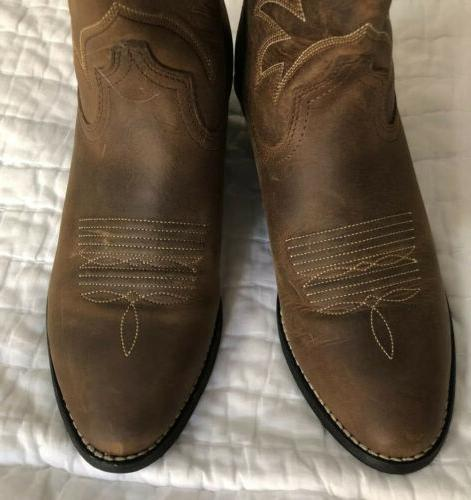 NEW R Cowboy Western Boot Brown 15725 Size
