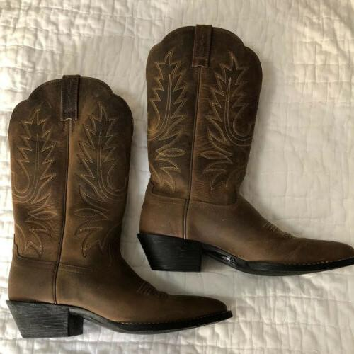 NEW R Cowboy Boot Brown Size