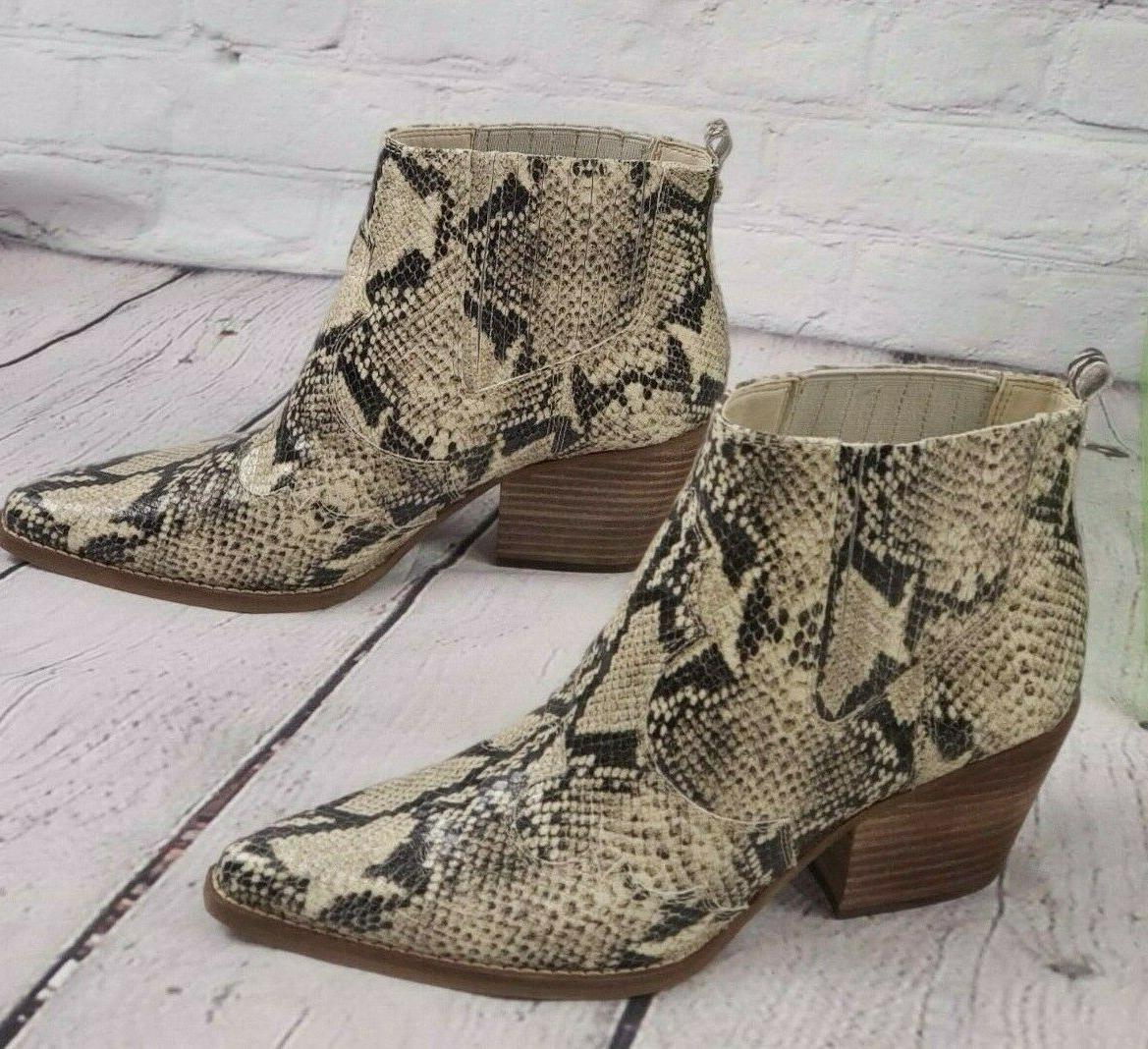 NIB Western Leather Boots Booties Snake Winona 9.5
