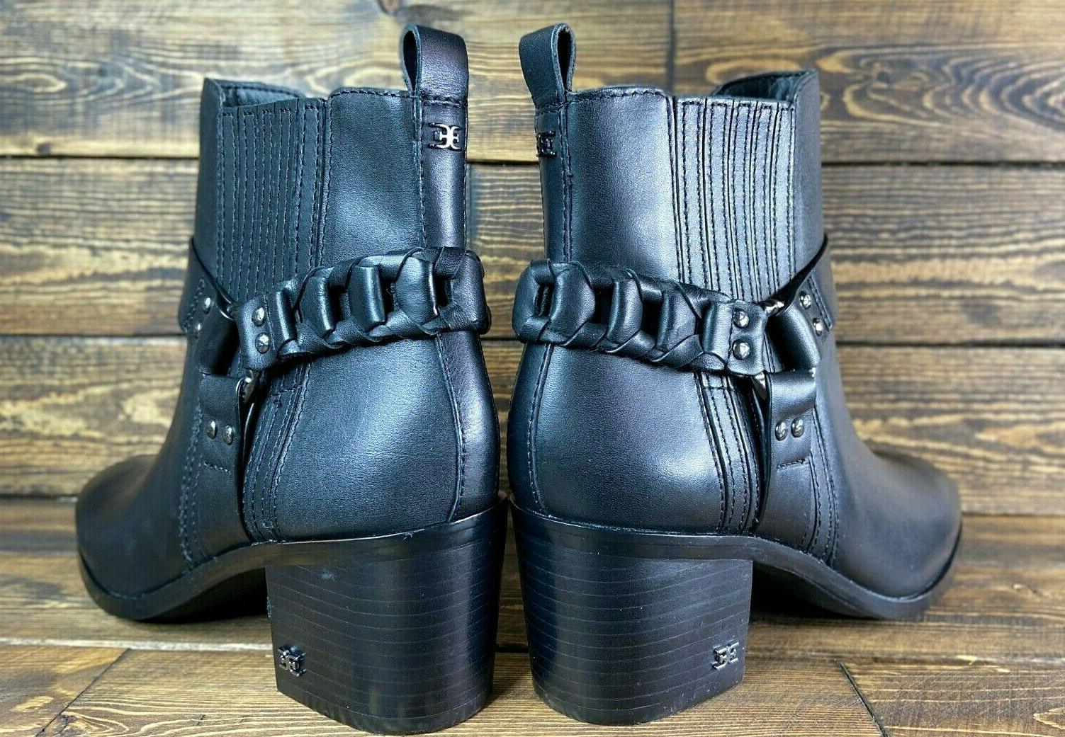 leather Biker Booties Size BOOT