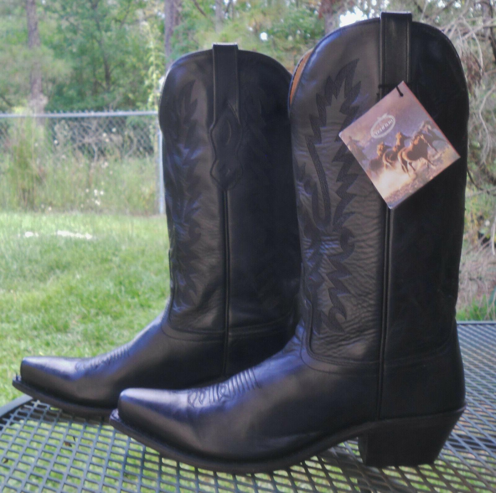 NWT! LEATHER WESTERN BOOTS Toe Rodeo Womens 8