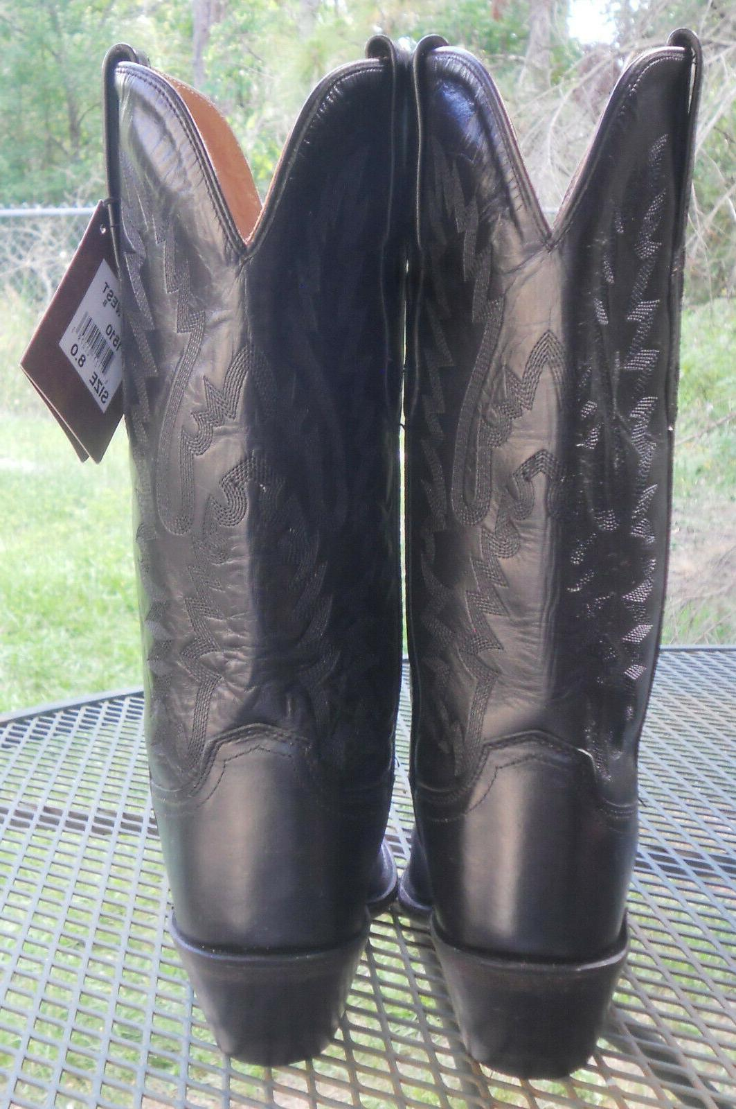 NWT! OLD WEST LEATHER WESTERN Snip Toe Womens 8