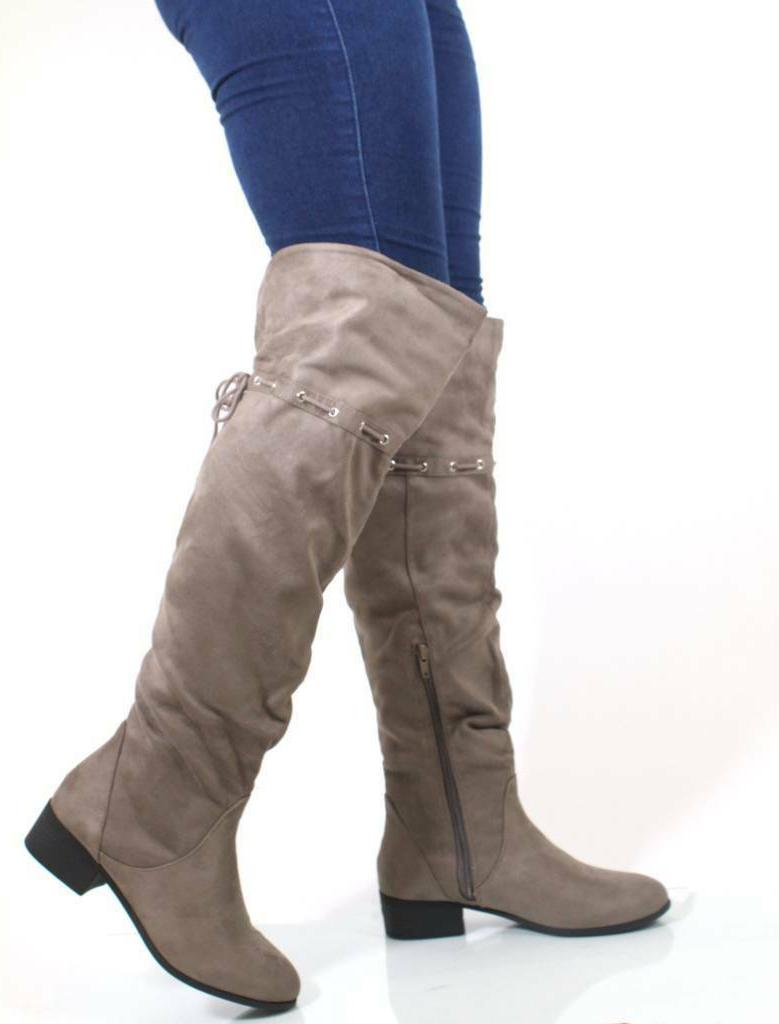 Oneway City Classified The Knee Slouchy Inspired Boots Interlacing