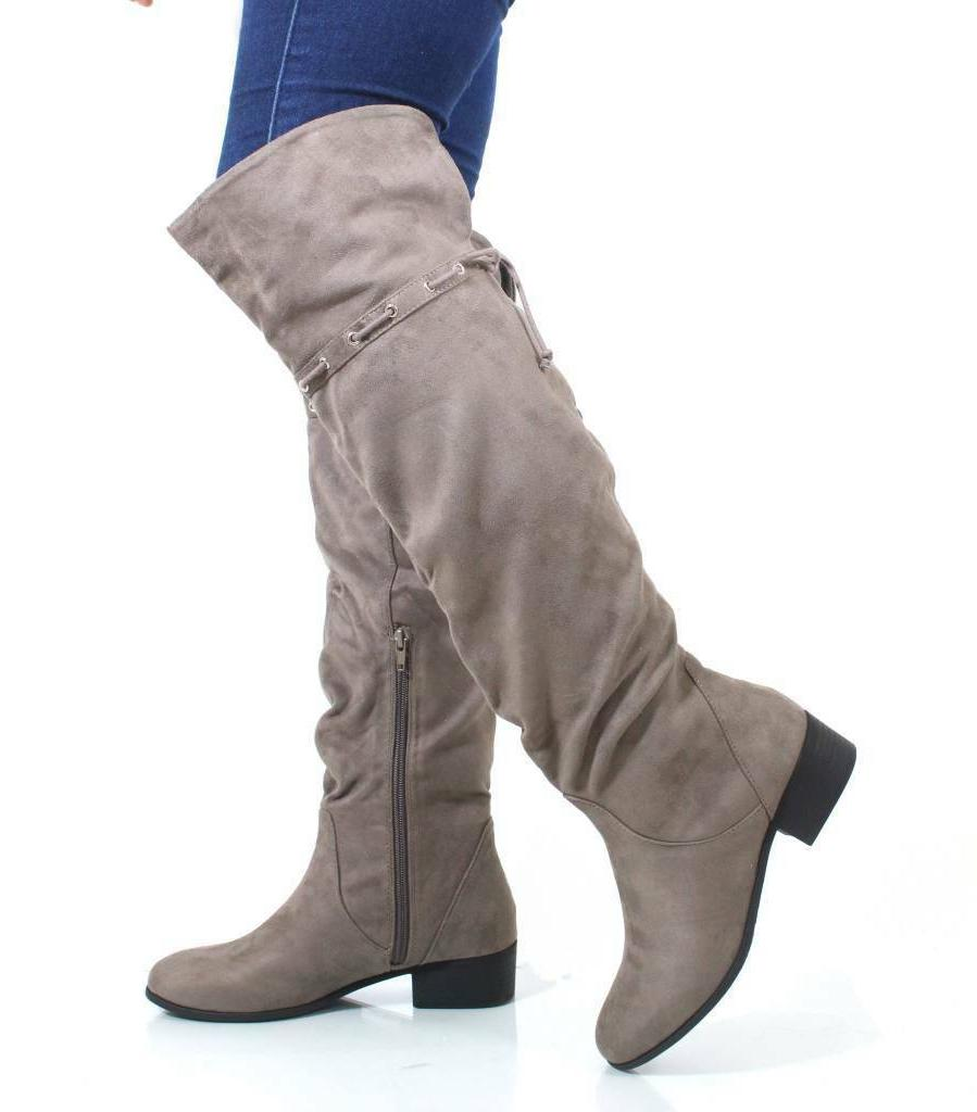 oneway over the knee slouchy western inspired