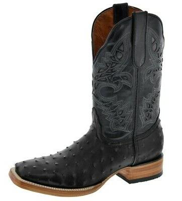 Ostrich Western Boots Square Toe