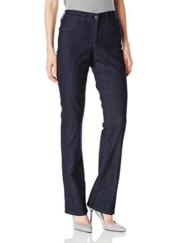 stretch mini bootcut jeans