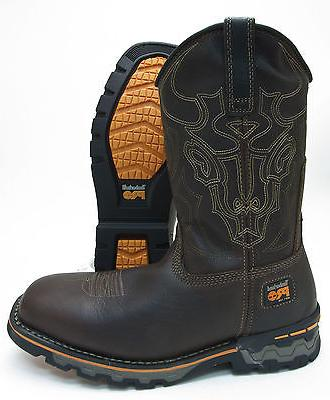 pro independence brown leather non slip western