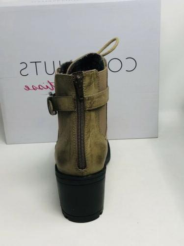 Coconuts Tarnished Look Lace-Up Boots Brown M In