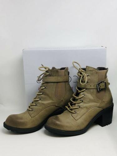 quiglee tarnished look lace up boots brown