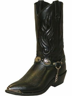 Sage 3033 Black Cowboy Western Boots by Abilene Boot Co Size