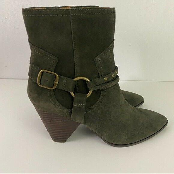Lucky Brand Green Suede Majoko Boots