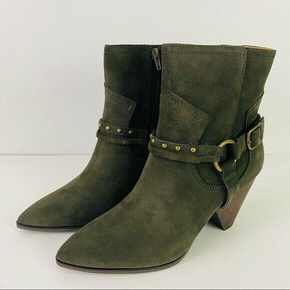 size 10m green suede majoko ankle boots