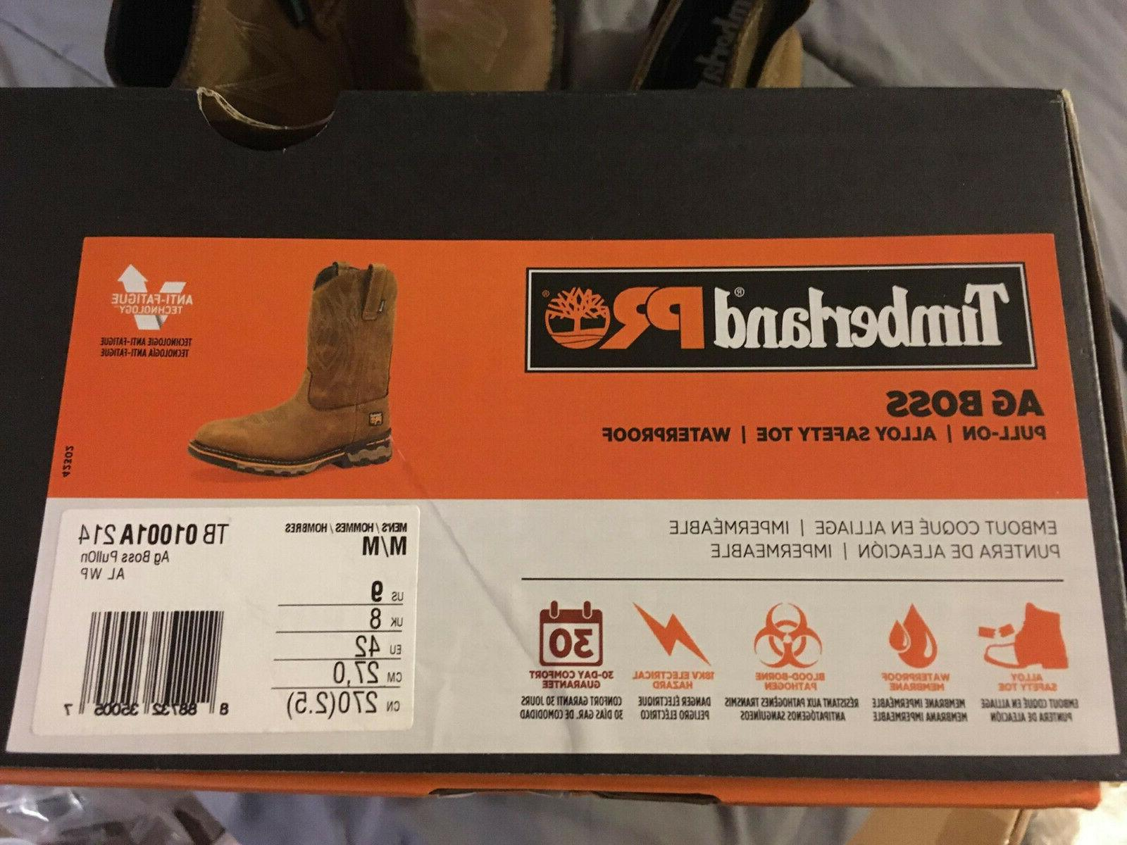 TB01001A214 AG BOSS Safety Toe Western NEW!